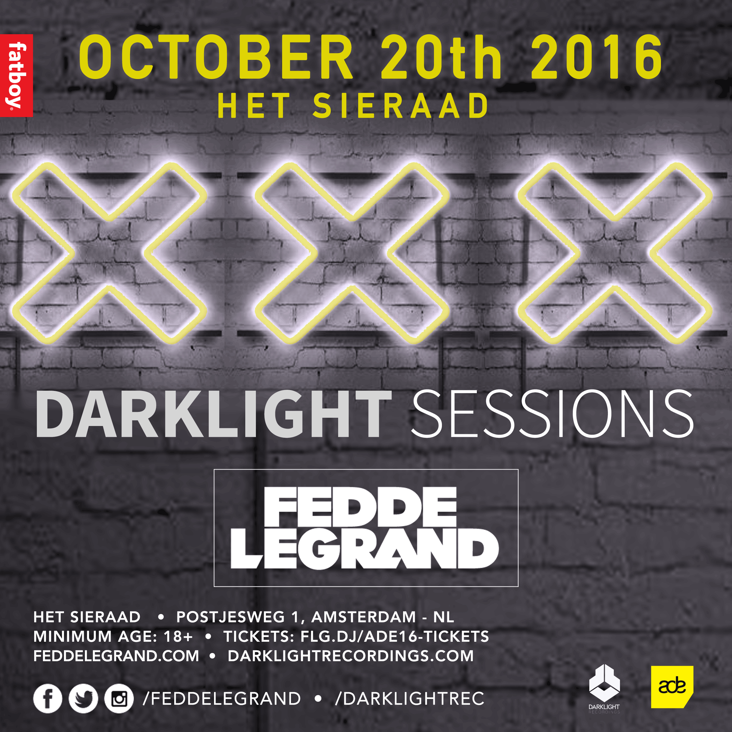 Darklight Sessions - ADE edition [Line-up announced]
