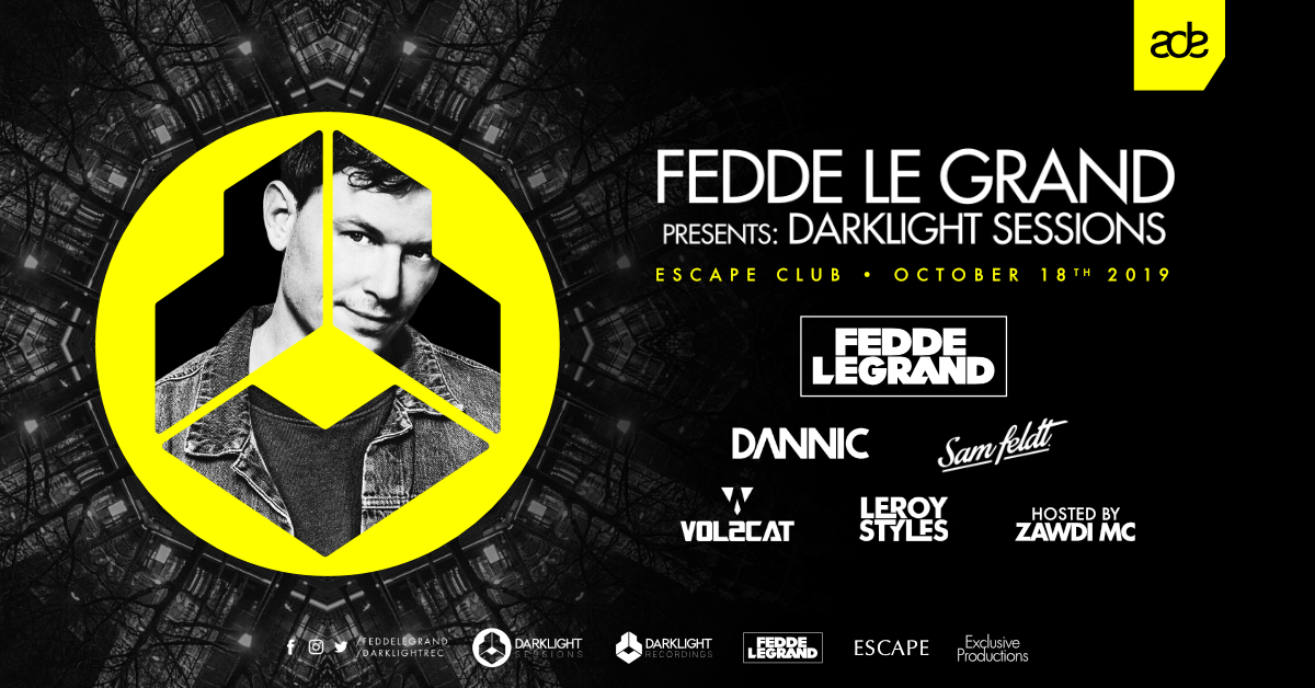 ADE | DARKLIGHT SESSIONS BY FEDDE LE GRAND | TICKETS NOW ON SALE